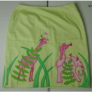 Lilly Pulitzer Animal Embroidered Skirt